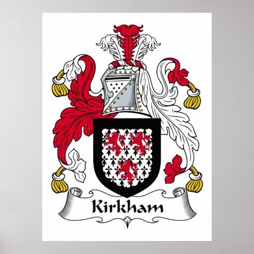 Kirkham Family Crest Poster