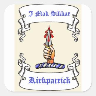 Kirkpatrick Dagger I Mak Sikkar Square Stickers