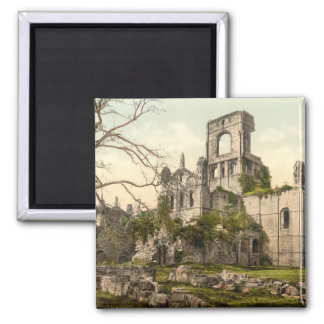 Kirkstall Abbey, Leeds, Yorkshire, England Square Magnet