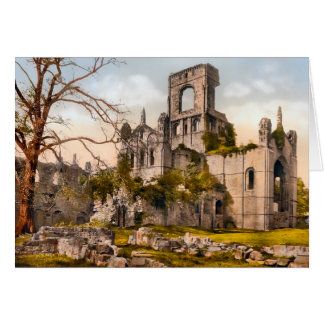 Kirkstall Abbey West Yorkshire England Card