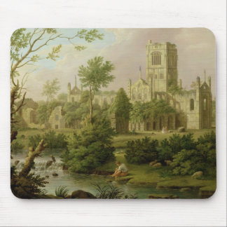 Kirkstall Abbey, Yorkshire, 1747 (oil on canvas) Mouse Mat