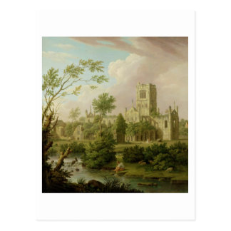 Kirkstall Abbey, Yorkshire, 1747 (oil on canvas) Postcard
