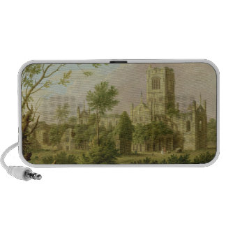 Kirkstall Abbey, Yorkshire, 1747 (oil on canvas) iPod Speaker