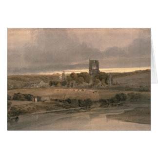 Kirkstall Abbey, Yorkshire - Evening Card