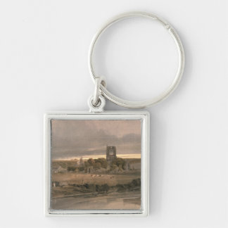 Kirkstall Abbey, Yorkshire - Evening Key Ring