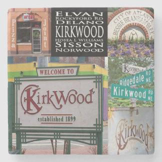 Kirkwood, Atlanta, Georgia. Collage Coasters Stone Coaster