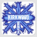 Kirkwood California blue snowflake art stickers