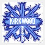 Kirkwood California blue snowflake art stickers
