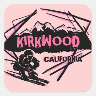 Kirkwood California pink theme skier stickers