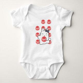Kirsty Cat Teacake Illustration Baby Bodysuit