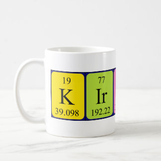 Kirsty periodic table name mug