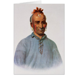 Kish-Kal-Wa, a Shawnee Chief Greeting Card