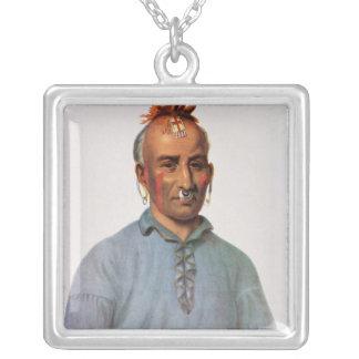 Kish-Kal-Wa, a Shawnee Chief Silver Plated Necklace