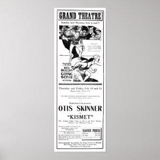'Kismet' 1921 vintage newspaper ad poster