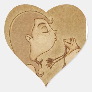 Kiss 3 heart sticker