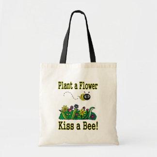 Kiss a Bee Tote Bag