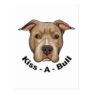 Kiss-A-Bull Pit bull Postcard