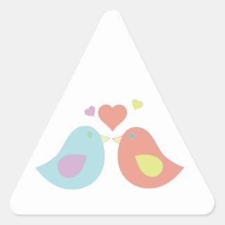 Kiss Birds Triangle Sticker