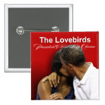 KISS CAM Lovebirds President & First Lady Obama 15 Cm Square Badge