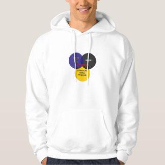 Kiss Class Venn Diagram Large Logo Sweatshirt