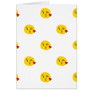 kiss emoji card
