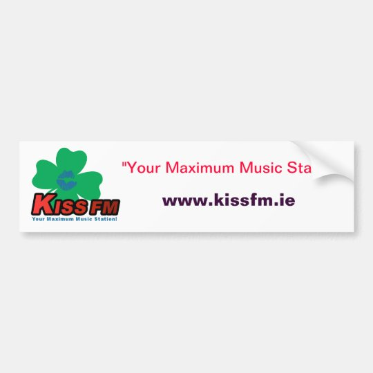 KISS FM Ireland Car Sticker