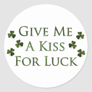 Kiss For Luck Stickers
