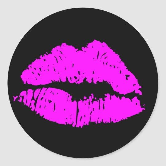 Kiss Lips Classic Round Sticker