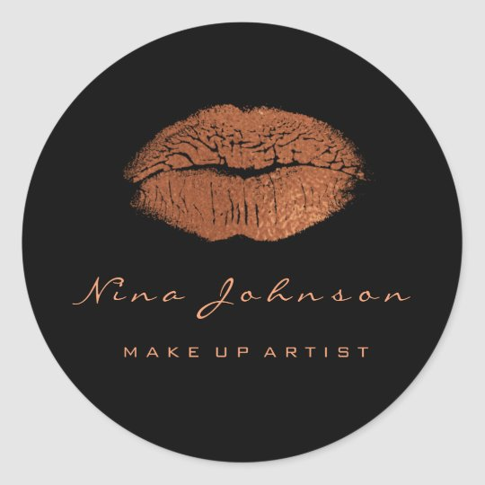 Kiss Lips Makeup Beauty Black Copper Rose Gold