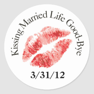 Kiss Married Life Good-Bye Stickers