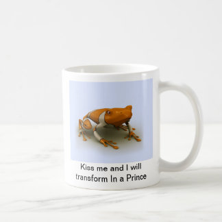 Kiss me and I will transform In the Prince Basic White Mug
