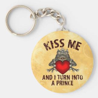 Kiss Me Basic Round Button Key Ring