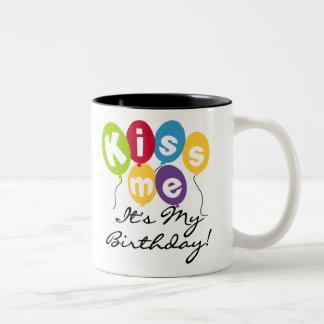Kiss Me Birthday Coffee Mugs