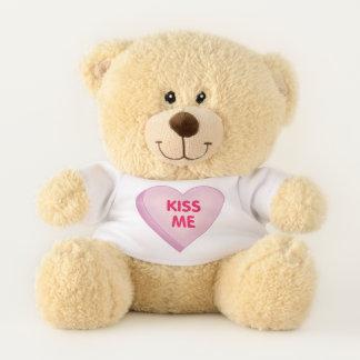 Kiss Me Candy Heart Teddy Bear