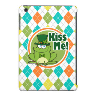 Kiss Me!  Colorful Argyle Pattern iPad Mini Retina Case
