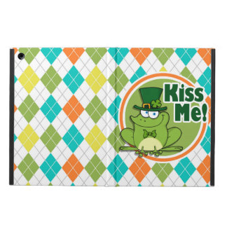 Kiss Me!  Colorful Argyle Pattern Case For iPad Air