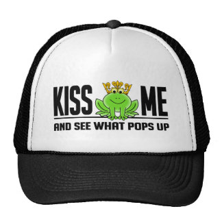 KISS ME Frog hat - choose color
