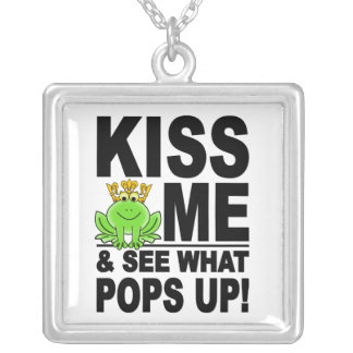 KISS ME Frog necklace