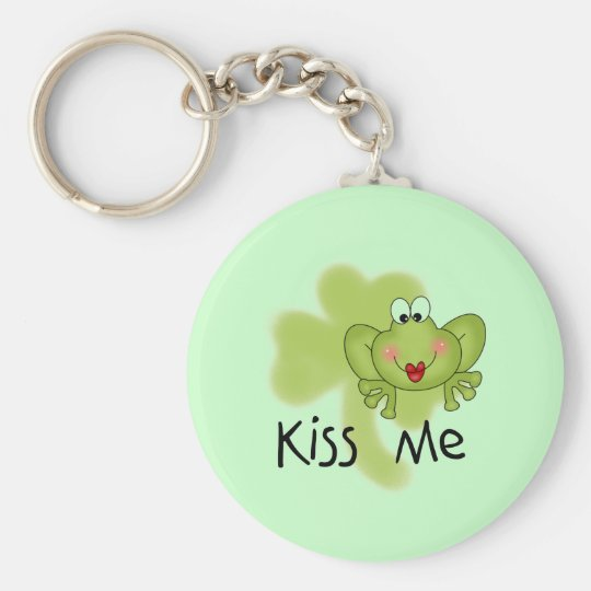 Kiss Me Froggy Tshirts and Gifts Basic Round Button Key Ring