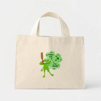 Kiss Me, Funny St. Patrick's Day Frog Bag