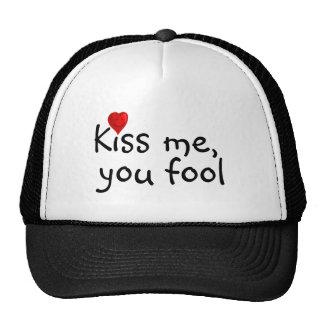 Kiss Me Funny Valentine Cap