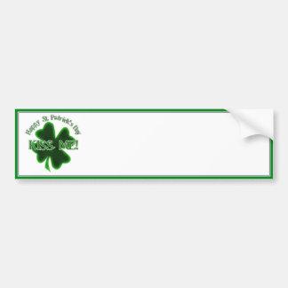 Kiss Me! - Happy St Patrick's Day Bumper Sticker
