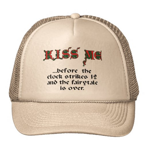 Kiss me trucker hats
