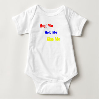 Kiss Me, Hold Me, Hug Me, Burp Me Baby Bodysuit