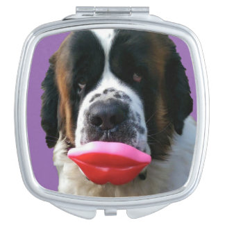 Kiss Me Hot Lips! St Bernard inspired Mirror For Makeup
