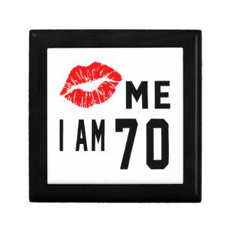 Kiss Me I Am 70 Keepsake Box