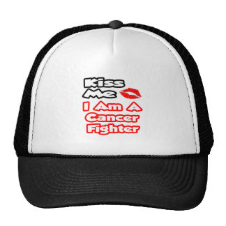 Kiss Me...I Am A Cancer Fighter Mesh Hats