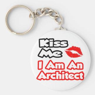 Kiss Me...I Am An Architect Basic Round Button Key Ring