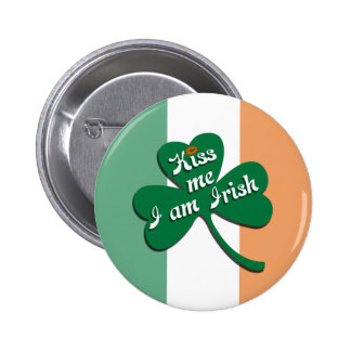 Kiss me I am Irish 6 Cm Round Badge