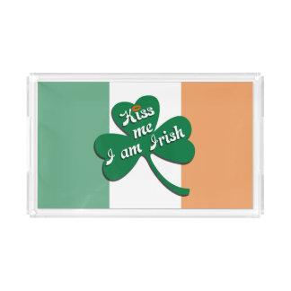 Kiss me I am Irish Acrylic Tray